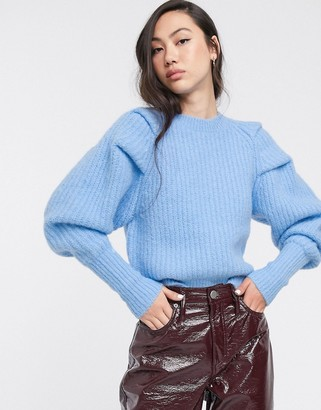 Weekday Vanetia knitted sweater in light blue