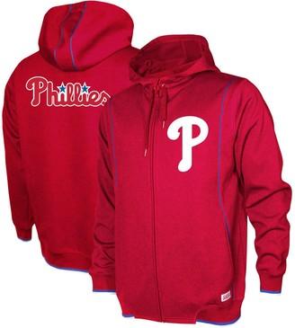 Stitches Men's Red Philadelphia Phillies Logo Full-Zip Hoodie
