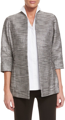 Misook Silver Linings Metallic Jacket