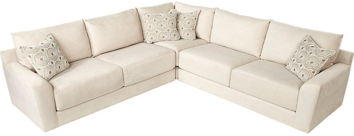 Cindy Crawford Home Dawson Place 3 Pc Cream Sectional