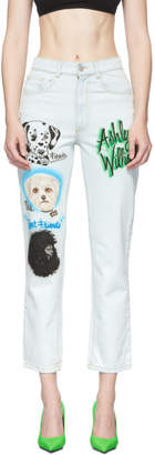 Ashley Williams White Air Brush Jeans
