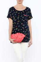 Yumi Navy Poppy Tee