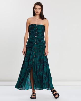 Lune Resort Black Magic Strapless Midi Dress