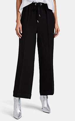 Osman Women's Jackson Satin-Back Crepe Cuffed Trousers - Black