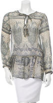 Calypso Silk Printed Top w/ Tags
