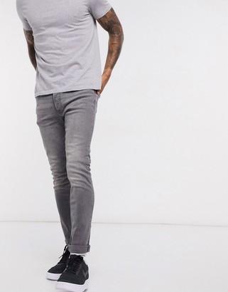 Topman skinny jeans in mid gray