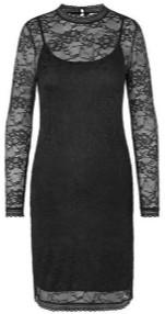 Rosemunde Long Sleeved Lace Black Dress - M - Black