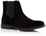 Jack & Jones Black 'randor' Suede Chelsea Boots