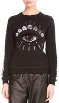 Kenzo Embroidered Nagai Eye Sweatshirt, Black