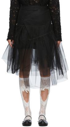 SHUSHU/TONG SSENSE Exclusive Black Two-Layer Skirt