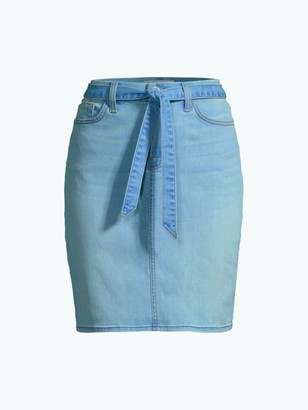 Jen7 By 7 For All Mankind Belted Denim Pencil Skirt