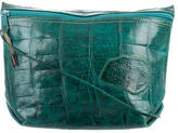 Carlos Falchi Embossed Leather Crossbody Bag