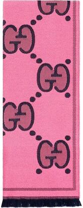 Gucci GG jacquard frayed scarf