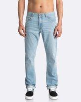 Quiksilver Mens Revolver Foam Blue Straight Fit Denim Jean