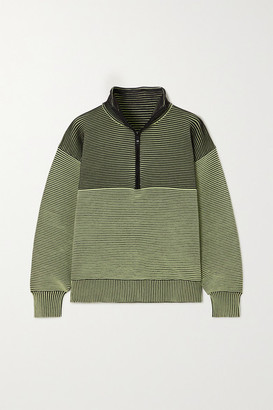 NAGNATA + Space For Giants Zhen Ribbed Organic Cotton Sweatshirt - Army green