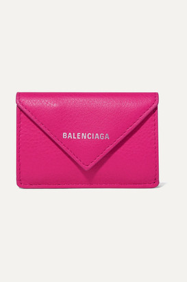Balenciaga Papier Mini Printed Textured-leather Wallet - Magenta