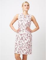 George Butterfly Print Linen-Blend Dress