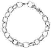 Lagos Sterling Silver Smooth/Caviar Link Bracelet