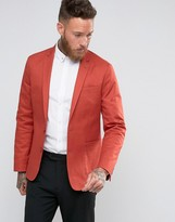 Asos Skinny Blazer in Rust Washed Cotton