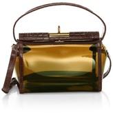 Gu De Water Leather-Trimmed PVC Crossbody Bag