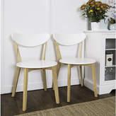 Asstd National Brand 2-pc. Retro Modern Wood Kitchen Dining Chairs