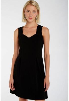 Naf Naf Flared Sleeveless Dress with Fancy Neckline