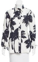 Moschino Cheap & Chic Moschino Cheap and Chic Palm Tree Button-Up Top
