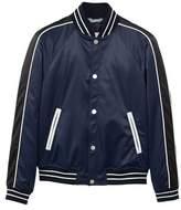 MANGO Pocketed satin bomber jacket
