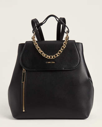 Calvin Klein Smooth Chain-Accent Backpack