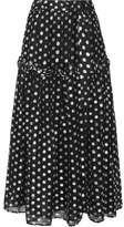 Dodo Bar Or - Sebastian Ruffle-trimmed Metallic Fil Coupé Georgette Maxi Skirt - Black