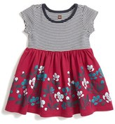 Tea Collection Mixed Print Short Sleeve Dress (Baby Girls)