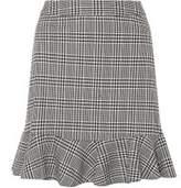 Dorothy Perkins Womens Check Peplum Mini Skirt- Black