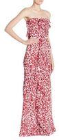 Oscar de la Renta Printed Ruffle Gown