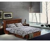 Planas Queen Storage Murphy Bed with Mattress Loon Peak Color: Cherry