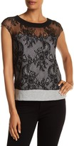 Plenty by Tracy Reese Lace Detail Cap Sleeves Sweater