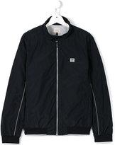 Armani Junior zipped jacket - kids - Cotton/Polyamide/Polyester/Spandex/Elastane - 14 yrs