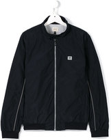 Armani Junior zipped jacket - kids - Polyester/Polyamide/Cotton/Spandex/Elastane - 14 yrs