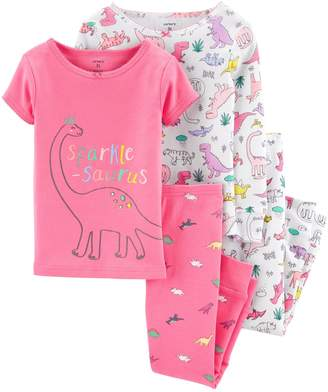Carter's Baby Girl 4-Piece Dinosaur Snug Fit Cotton PJs