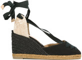 Castaner tie ankle wedge espadrilles - women - Cotton/Leather - 36