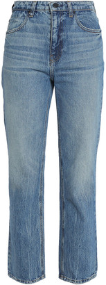 Alexander Wang Faded High-rise Straight-leg Jeans