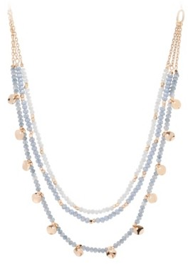 Crown Vintage Blue Layered Necklace