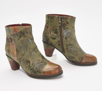 Spring Step L'Artiste by Floral Ankle Boots - Waterlily