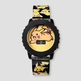 Boys' Pokemon Pikachu LCD Watch - Black/Yellow
