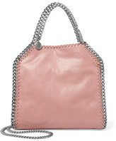 Stella McCartney The Falabella Mini Faux Brushed-leather Shoulder Bag - Blush