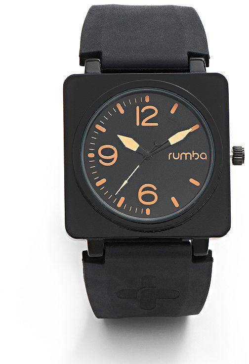 RumbaTime hudson black silicone watch - 11842 - men