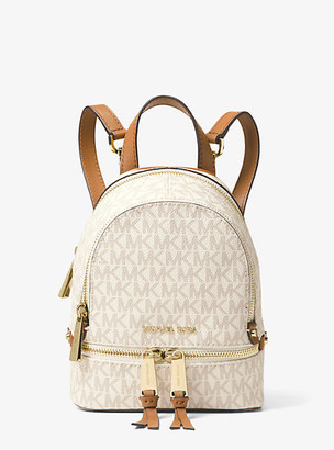 MICHAEL Michael Kors MK Rhea Mini Logo Backpack - Vanilla - Michael Kors