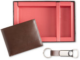Perry Ellis Portfolio Men's Leather Wallet & Bottle Opener Keychain Gift Boxed Set
