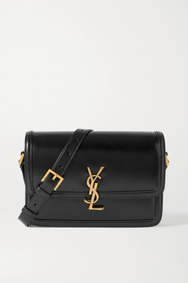 Saint Laurent Solferino Medium Leather Shoulder Bag - Black