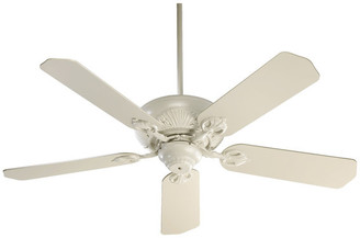 "Chateau X 52"" 5-Blade Chateaux Ceiling Fan, Antique White"