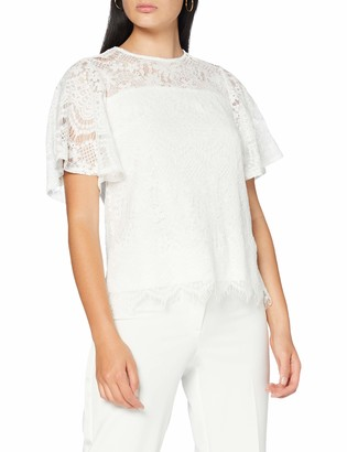Yumi Women's Lace Fluted Sleeve Top T-Shirt